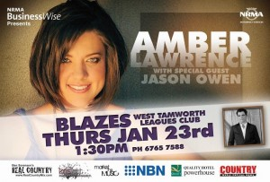 NRMA BusinessWise presents Amber Lawrence with special guest Jason Owen live at the Tamworth Country Music Festival