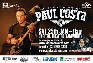 NRMA BUSINESSWISE PRESENTS PAUL COSTA WITH SPECIAL GUESTS GEORGIA FALL AT THE 2014 TAMWORTH COUNTRY MUSIC FESTIVAL