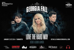 """NRMA BusinesWise presents """"Love The Hard Way"""" the Georgia Fall debut album launch at the Tamworth Country Music Festival"""