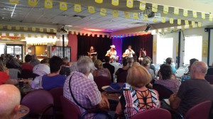 Tanya with 8 Ball Aitken & Brad Butcher at 'Writers In The Round' at the Tamworth Services Club