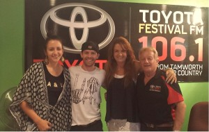 With Festival co-host Ray McCoy and fellow Star Maker winners Kaylee Bell & Jared Porter