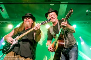Simply Bushed's Paul Grierson and Chris Rieger live on stage